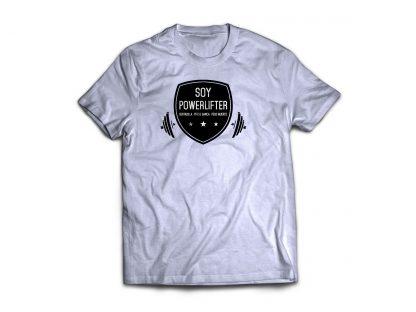 camiseta Soy Powerlifter gris